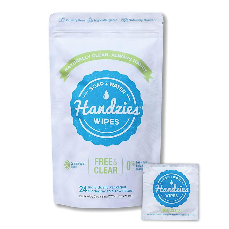 Handzies Soap and Water Wipes