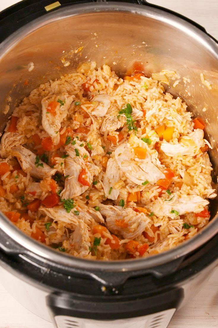 """<p>Faster than take-out.</p><p>Get the recipe from <a href=""""https://www.delish.com/cooking/recipe-ideas/a19677130/instant-pot-chicken-and-rice-recipe/"""" rel=""""nofollow noopener"""" target=""""_blank"""" data-ylk=""""slk:Delish"""" class=""""link rapid-noclick-resp"""">Delish</a>. </p>"""