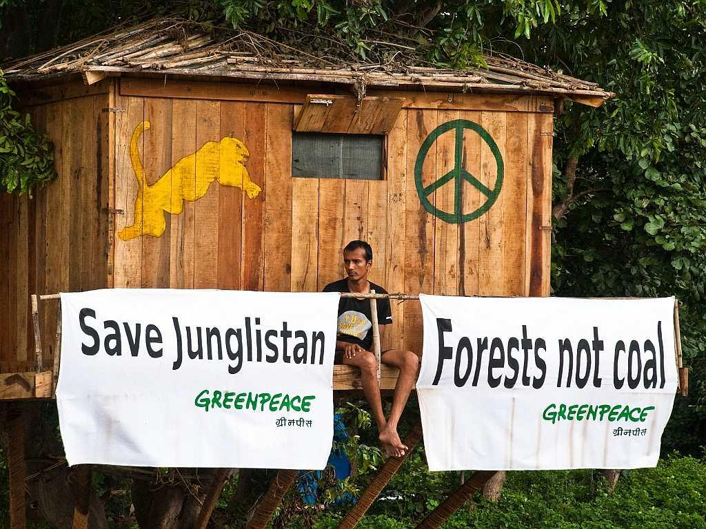 Before coming to Hyderabad Brikesh Singh spent a month in a tree-house on the fringes of the Tadoba-Andhari forests in Chandrapur, protesting against coal mining destroying forests.