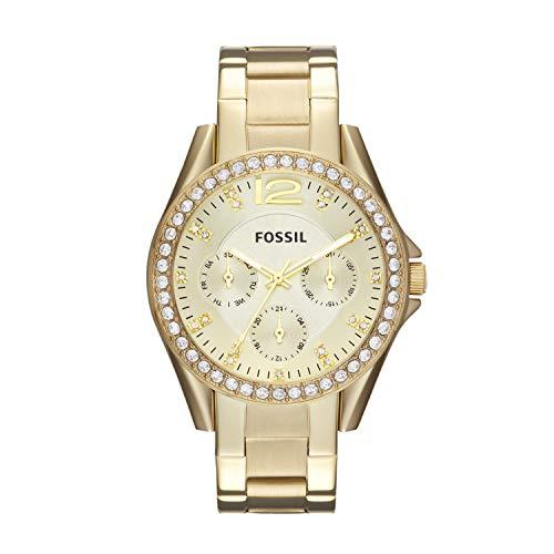 Fossil Women's Riley Stainless Steel Multifunction Glitz Quartz Watch (Amazon / Amazon)