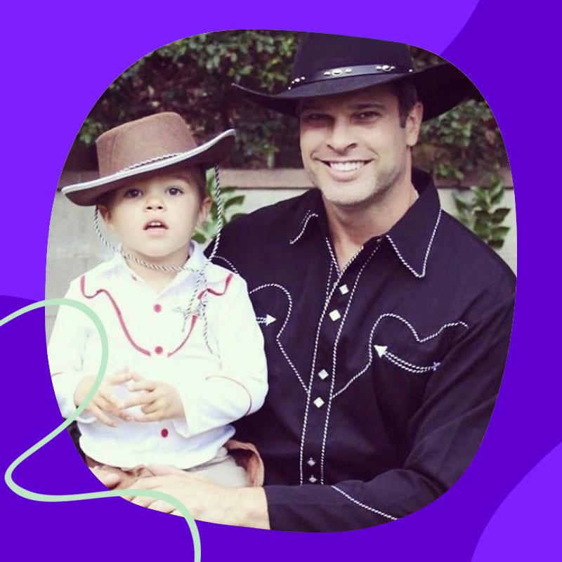 Bret Evans with his young son, Ronan, now 9. (courtesy photo)