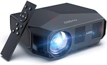 <p>Project directly from your smartphone with the <span>Cooau Portable Outdoor Movie Projector</span> ($116). You can enjoy a vivid and clear picture with this projector. It has HDMI, USB, VGA, and AV ports for all types of media. The projector has a 45-200-inch display with an innovative two-fan cooling system.</p>