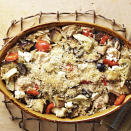 <p>Tuna casserole is a timeless comfort-food recipe; this one incorporates eggplant, artichoke hearts, oregano, olives and feta cheese for a Greek flair.</p>