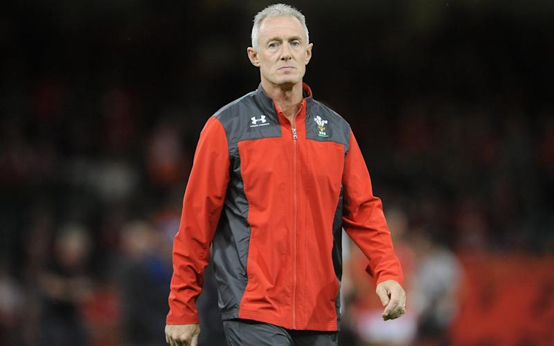 Wales Rob Howley during the pre match warm up during the 2019 Under Armour Summer Series match between Wales and Ireland at Principality Stadium on August 31, 2019 in Cardiff, Wales. - GETTY IMAGES