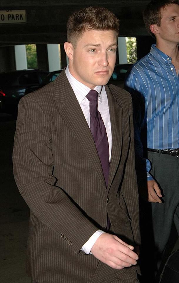 "It's back to jail for ""Prison Break"" star Lane Garrison. The actor, who pleaded guilty to vehicular manslaughter and drunken driving in a crash that killed a teenage passenger, will undergo a 90-day evaluation in prison before a judge determines his final sentence. Richard Beetham/<a href=""http://www.splashnewsonline.com"" target=""new"">Splash News</a> - March 8, 2007"