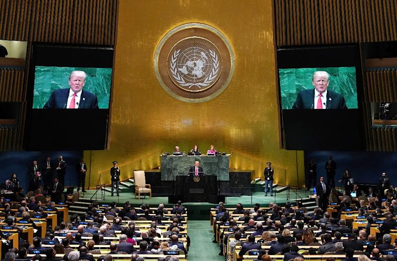 Trump delivers address to United Nations General Assembly