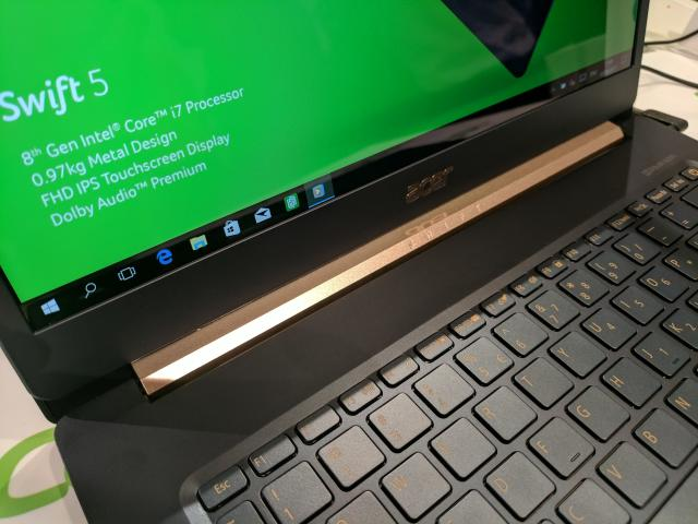 The Acer Swift 5 is just 2.5 pounds and rocks a boatload of connectivity options.