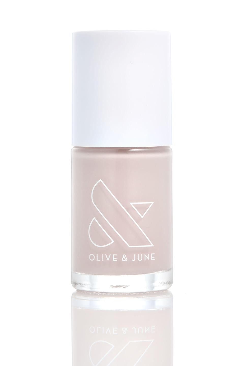 """<p>Want a little more coverage? Mandy's blush tone will add some color to your usual naked mani.</p><br><br><strong>Olive & June</strong> Nail Polish in Mandy, $8, available at <a href=""""https://olivejune.com/collections/nail-polish/products/mandy"""" rel=""""nofollow noopener"""" target=""""_blank"""" data-ylk=""""slk:Olive & June"""" class=""""link rapid-noclick-resp"""">Olive & June</a>"""