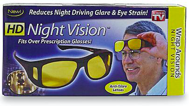HD Night Vision Wraparound Glasses (Photo: Kmart)