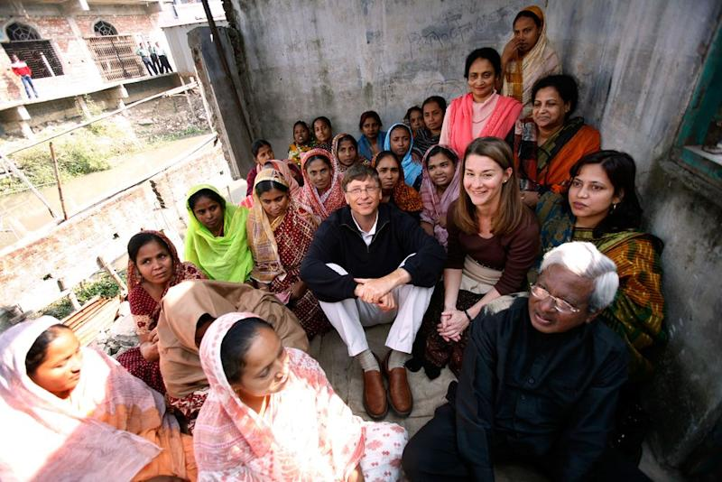 In Dhaka, Bangladesh, the government went all out to welcome the Gateses, recalls a friend. The couple just wanted to spend time listening to the people. | Courtesy of Bill & Melinda Gates Foundation/Prashant Panijar