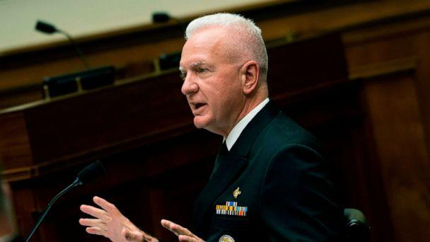 PHOTO: Department of HHS Assistant Secretary Admiral Brett Giroir, testifies before a House Select Subcommittee on the Coronavirus Crisis hearing in Washington, July 2, 2020. (Caroline Brehman/POOL/AFP via Getty Images)