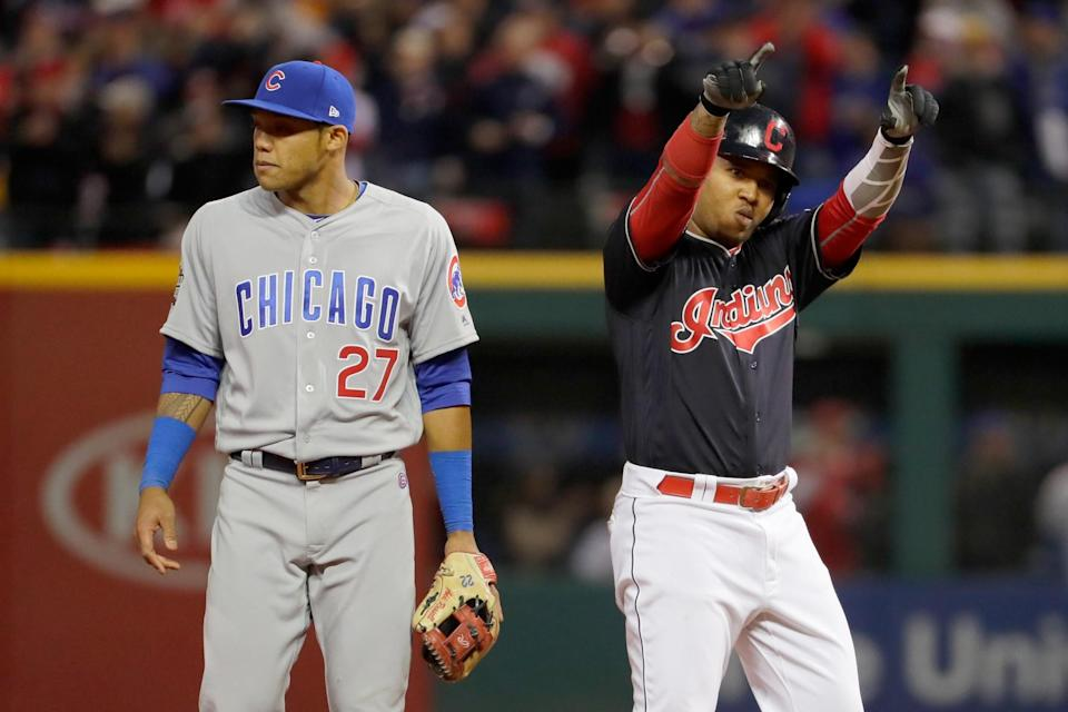 Jose Ramirez rebounded from a 1-for-17 ALCS performance with three hits. (Getty Images)