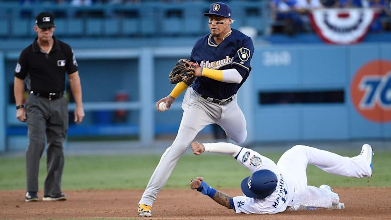 online retailer 36e35 57443 Manny Machado called for interference with Orlando Arcia