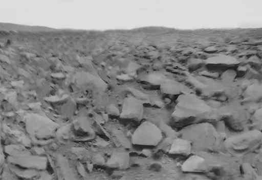 180-degree panorama of the surface captured by Venera 9 in 1975
