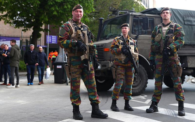 Security forces in Brussels ahead of Manchester United's game with Anderlecht - Getty Images Europe