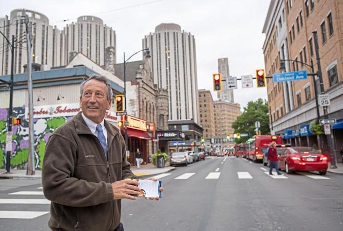 Republican presidential candidate Mark Sanford, former governor of South Carolina, during his campaign stop in October 2019, in Oakland, Pennsylvania.