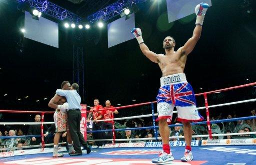 David Haye (R) felt an amount of redemption after twice leaving Chisora slumped on the canvas at Upton Park