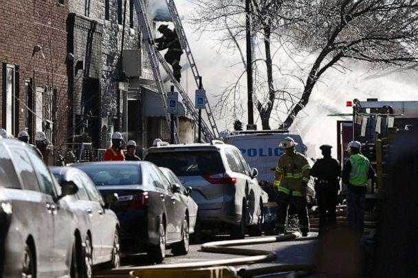 PHOTO: Firefighters battle a fire in the 1400 block of South 8th St. in Philadelphia, Dec. 19, 2019. (Tim Tai/The Philadelphia Inquirer via AP)