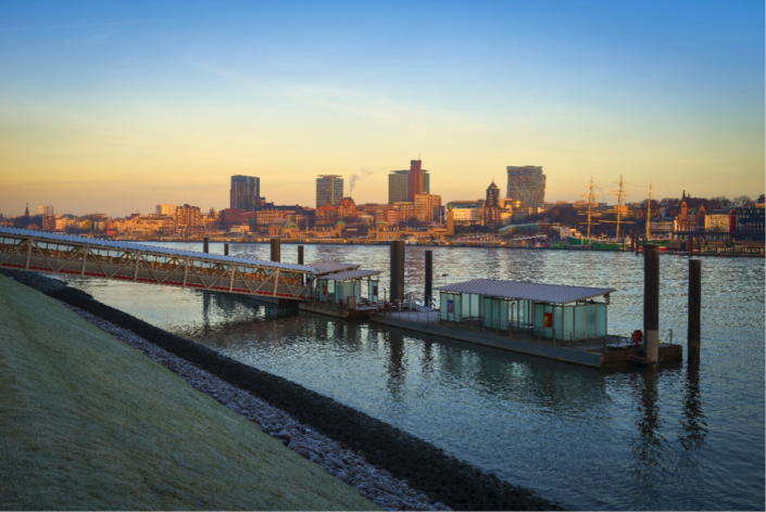 <p>Germany's first and only entry in the top 10 was Hamburg. A city with a population of 1.75 Million, it scored 95 points, putting it just inside the top 10. (Rex features) </p>