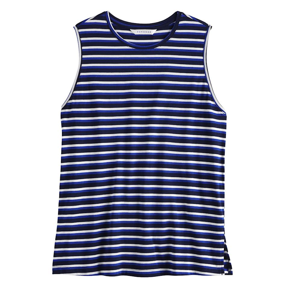"<p>After a day of outdoor activity, a comfortable outfit is key. This <a href=""https://www.popsugar.com/buy/POPSUGAR%20Relaxed%20Muscle%20Tank%20Top-469434?p_name=POPSUGAR%20Relaxed%20Muscle%20Tank%20Top&retailer=kohls.com&price=19&evar1=fab%3Aus&evar9=46392334&evar98=https%3A%2F%2Fwww.popsugar.com%2Ffashion%2Fphoto-gallery%2F46392334%2Fimage%2F46392335%2FPOPSUGAR-Relaxed-Muscle-Tank-Top&prop13=api&pdata=1"" rel=""nofollow"" data-shoppable-link=""1"" target=""_blank"" class=""ga-track"" data-ga-category=""Related"" data-ga-label=""https://www.kohls.com/product/prd-3713634/womens-popsugar-relaxed-muscle-tank-top.jsp?color=Silver%20Pink&amp;prdPV=24&amp;clickId=WxBWIcw4hxyJRft0MSU5wRc5UklTnbUdRWmQ3Q0&amp;irgwc=1&amp;utm_campaign=362118&amp;utm_source=1244054&amp;cid=affiliate-_-1244054&amp;utm_content=ONLINE_TRACKING_LINK&amp;utm_medium=affiliate"" data-ga-action=""In-Line Links"">POPSUGAR Relaxed Muscle Tank Top</a> ($19, originally $26) with loose-fitting denim is the epitome of relaxed-chic with comfy Birkenstocks. </p>"