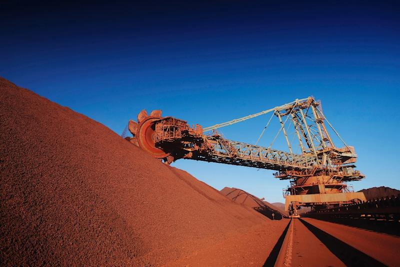 Anglo-Australian mining giant BHP Billiton's Mount Newman iron ore mine, pictured in western Australia (AFP Photo/-)