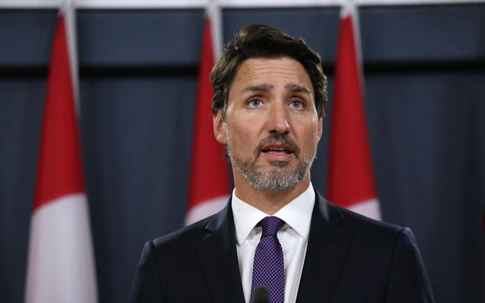 Justin Trudeau said the rollover would be the basis for a new UK-Canada free trade agreement - AFP