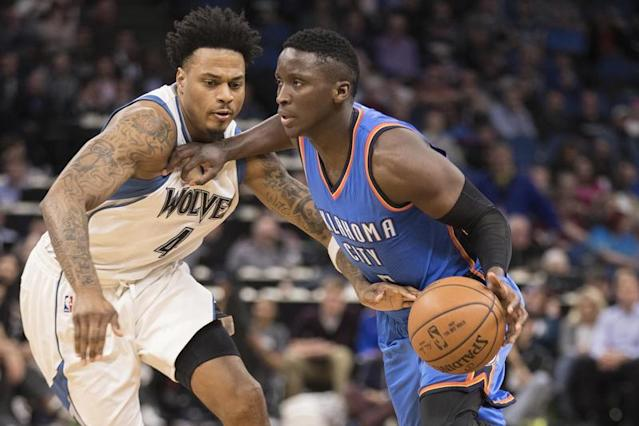 Oladipo décisif sans Westbrook/Photo prise le 12 avril 2017/REUTERS/� USA Today Sports / Reuters
