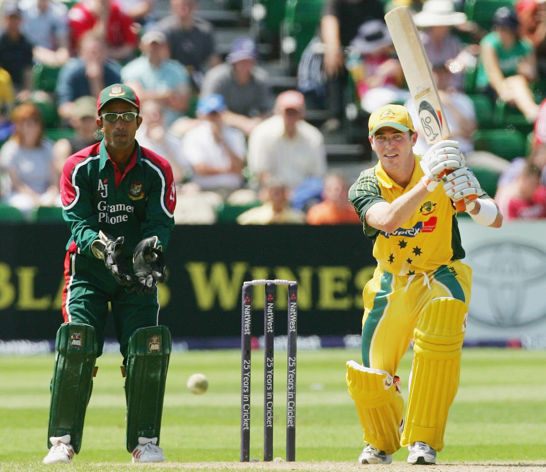 Damien Martyn of Australia in action during the NatWest Series One Day International between Australia and Bangladesh played at Sophia Gardens on June 18, 2005 in Cardiff, United Kingdom (Photo by Hamish Blair/Getty Images)