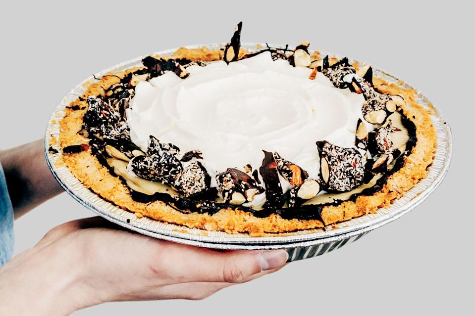 """Ever wish coconut cream pie was even more coconutty? This is the pie for you—the pie comes together easily and has extra coconut flavor thanks to a press in coconut macaroon crust. <a href=""""https://www.epicurious.com/recipes/food/views/coconut-cream-pie-with-macaroon-press-in-crust-56389556?mbid=synd_yahoo_rss"""" rel=""""nofollow noopener"""" target=""""_blank"""" data-ylk=""""slk:See recipe."""" class=""""link rapid-noclick-resp"""">See recipe.</a>"""