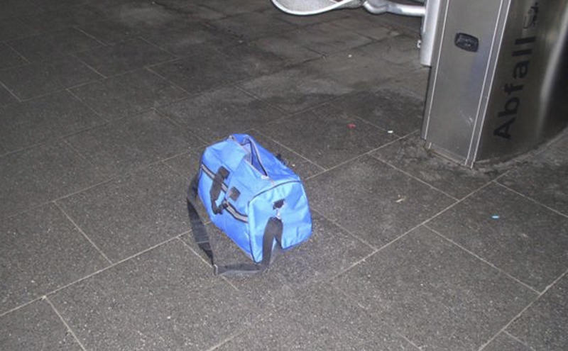 File - In this photo provided by the Cologne Police Tuesday Dec. 11, 2012 a bag that was discovered in the Bonn, western Germany, is pictured at the Bonn main station Monday, Dec. 10, 2012. German prosecutors say they believe a radical Islamic terrorist group was behind an attempted bombing this week at a railway station in Bonn. The device was found Monday and defused. It contained four butane gas cartridges, a metal pipe containing ammonium nitrate powder, three batteries and an alarm clock. Federal prosecutors, who in Germany handle terrorism cases, announced Friday Dec. 14, 2012 they were taking over the case. They say there is now sufficient evidence that the incident was an attempted attack by a radical Islamic group. Prosecutors said in a statement there's evidence a man suspected of leaving the bag on the station platform has links to Islamic radicals. (AP Photo/HOPD/Polizei Koeln,File)