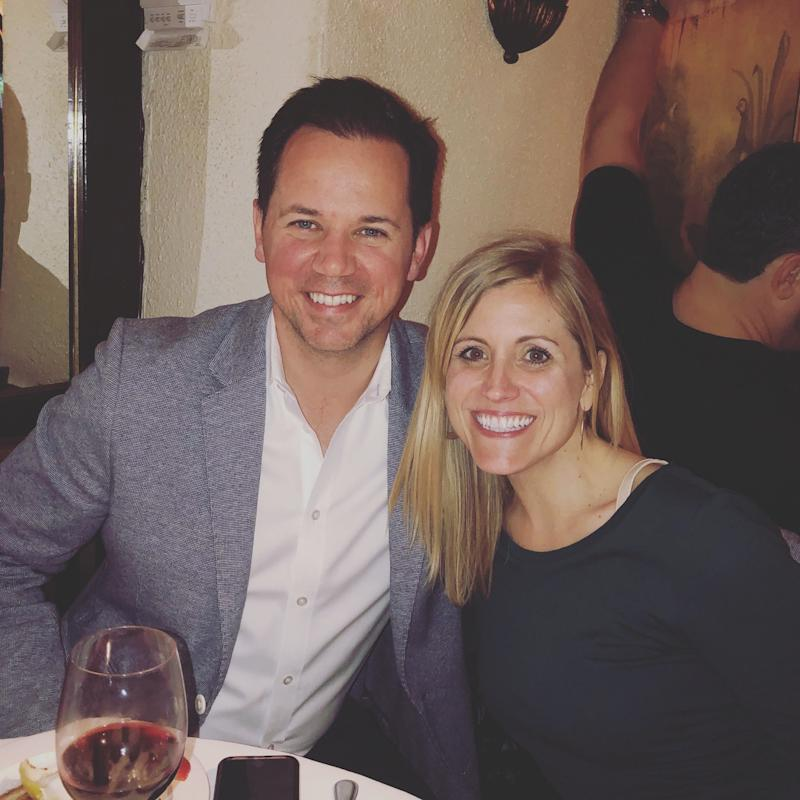 Matt Atkenson, U.S. retail communications manager at Ford, has studied data that reflects consumer anxiety associated with the uncertain economy. He is pictured here with his wife Stacy on April 27, 2019, in New York.