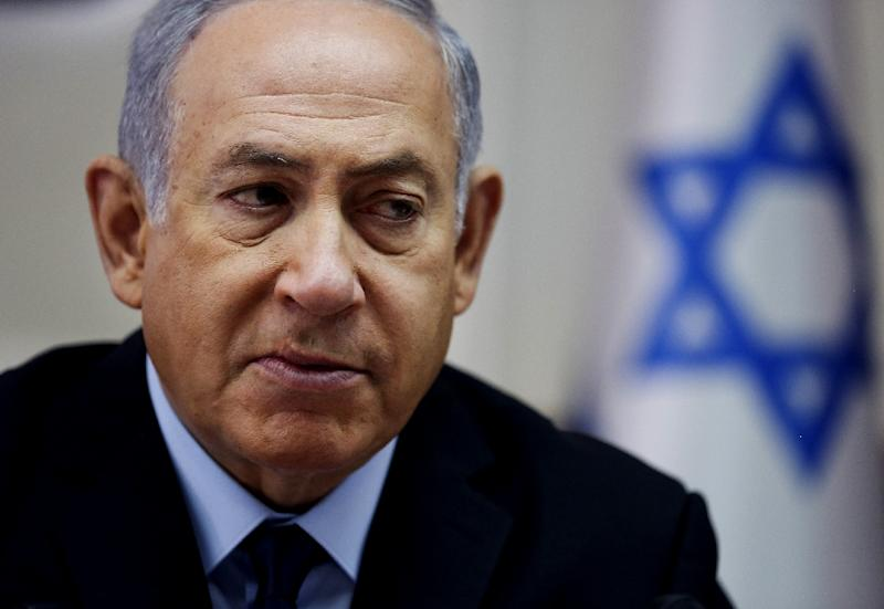 Israeli Prime Minister Benjamin Netanyahu is plotting his next moves after his defence minister resigned over a controversial Gaza ceasefire, throwing his coalition into crisis and raising the possibility of early elections (AFP Photo/Oded Balilty)