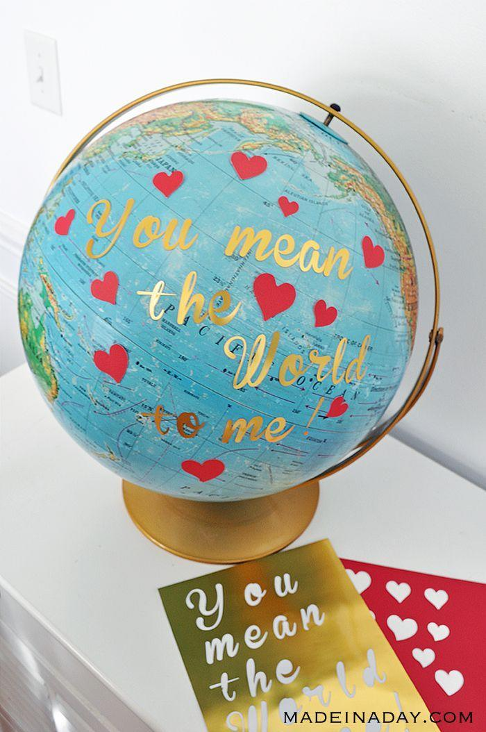 """<p>Welcome your Valentine's Day party guests to your home by placing this thoughtful globe on a table near the door. You can also use the same wordplay and earth imagery on a card for your loved ones. </p><p><em><a href=""""https://madeinaday.com/diy-globe-valentine/"""" rel=""""nofollow noopener"""" target=""""_blank"""" data-ylk=""""slk:Get the tutorial at Made in a Day »"""" class=""""link rapid-noclick-resp"""">Get the tutorial at Made in a Day »</a></em></p>"""