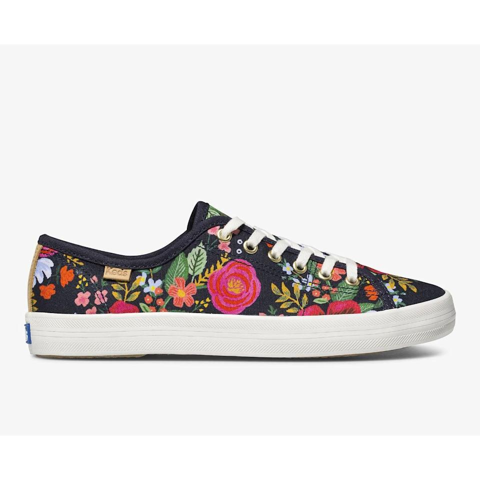 "<p><a href=""https://www.popsugar.com/buy/Keds-x-Rifle-Paper-Co-Kickstart-Wild-Rose-Sneakers-584511?p_name=Keds%20x%20Rifle%20Paper%20Co.%20Kickstart%20Wild%20Rose%20Sneakers&retailer=keds.com&pid=584511&price=50&evar1=fab%3Aus&evar9=47571677&evar98=https%3A%2F%2Fwww.popsugar.com%2Ffashion%2Fphoto-gallery%2F47571677%2Fimage%2F47571940%2FKeds-x-Rifle-Paper-Co-Kickstart-Wild-Rose-Sneakers&list1=shopping%2Cshoes%2Csneakers%2Csummer%2Csummer%20fashion%2Cfashion%20shopping&prop13=mobile&pdata=1"" rel=""nofollow noopener"" class=""link rapid-noclick-resp"" target=""_blank"" data-ylk=""slk:Keds x Rifle Paper Co. Kickstart Wild Rose Sneakers"">Keds x Rifle Paper Co. Kickstart Wild Rose Sneakers</a> ($50, originally $65)</p>"