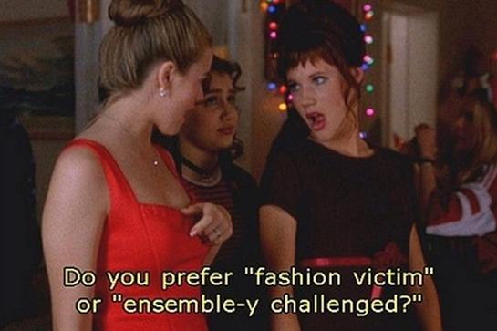 """<strong>Cher (to Amber): """"Do you prefer 'fashion victim' or 'ensemble-y challenged?'""""</strong> <br><br>Before <em>Mean Girls</em>' Regina George coined the veiled insult, """"I love your skirt,"""" back in 2004, Cher threw down its precursor: a less sneaky, albeit equally hurtful way of questioning someone's fashion sense.<br><br>"""