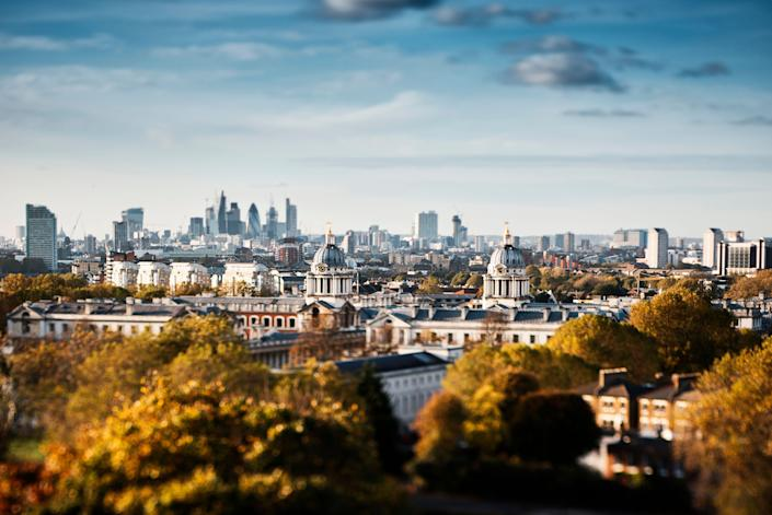 Outside the center of London, visitors can find beautiful parks and stunning views — like in Greenwich, pictured here. (Photo: Neil Spence via Getty Images)