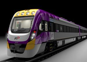 Rendering of the newly designed VLocity train carriage.