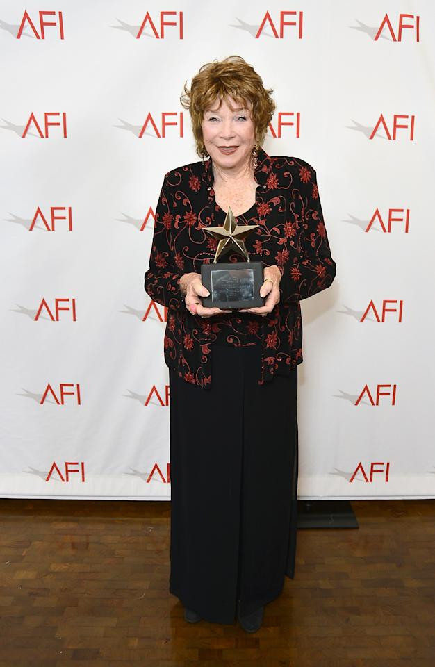 CULVER CITY, CA - JUNE 07:  Honoree Shirley MacLaine arrives at the 40th AFI Life Achievement Award honoring Shirley MacLaine held at Sony Pictures Studios on June 7, 2012 in Culver City, California. The AFI Life Achievement Award tribute to Shirley MacLaine will premiere on TV Land on Saturday, June 24 at 9PM ET/PST.  (Photo by Frazer Harrison/Getty Images for AFI)