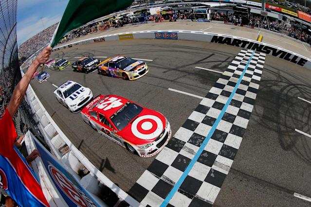 Larson started first at Martinsville after rain canceled qualifying two weeks ago. (Getty)