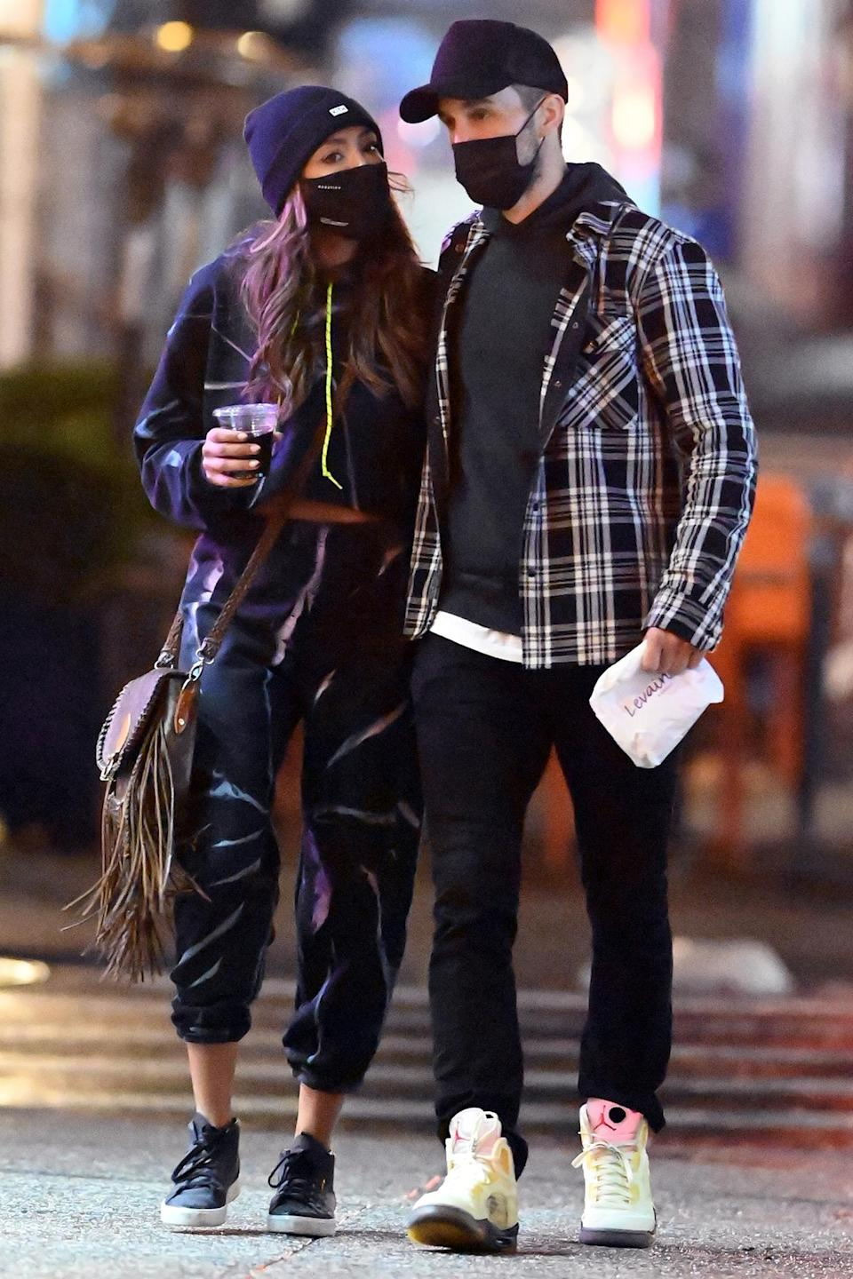 <p><em>Bachelorette</em> stars Tayshia Adams and Zac Clark spent Christmas Eve in New York City.</p>