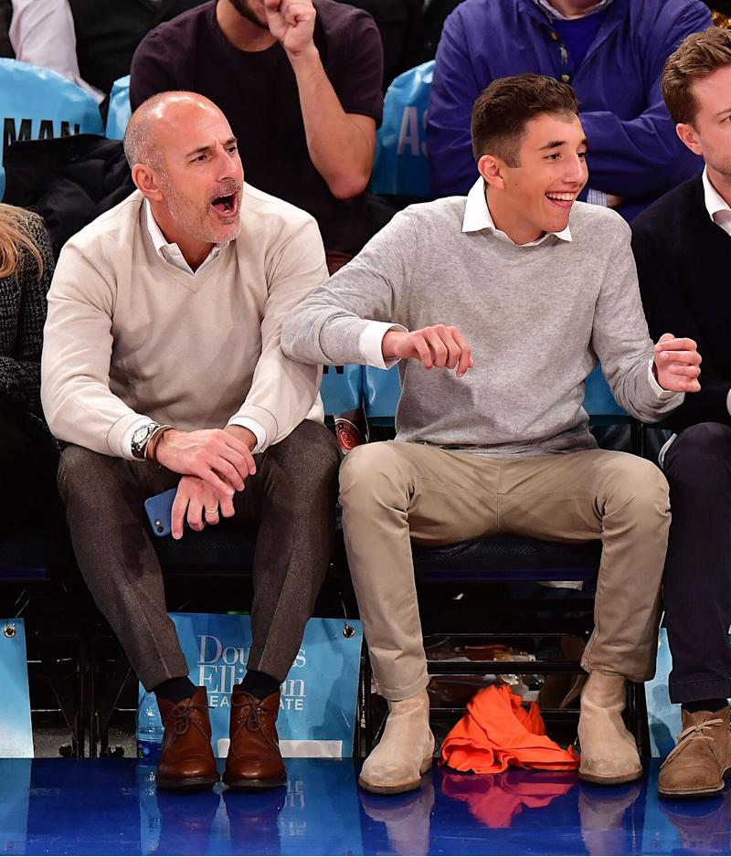 Matt Lauer and His Rarely Pictured Teen Son Jack Go to