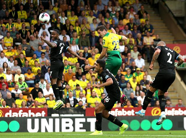Kenny McLean heads Norwich in front (Getty images)