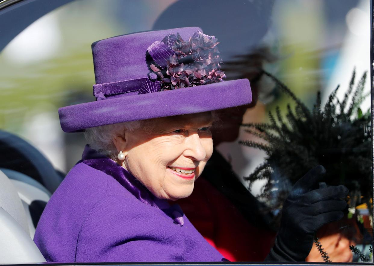 Queen Elizabeth leaves the Highland Games earlier this month. (Reuters)