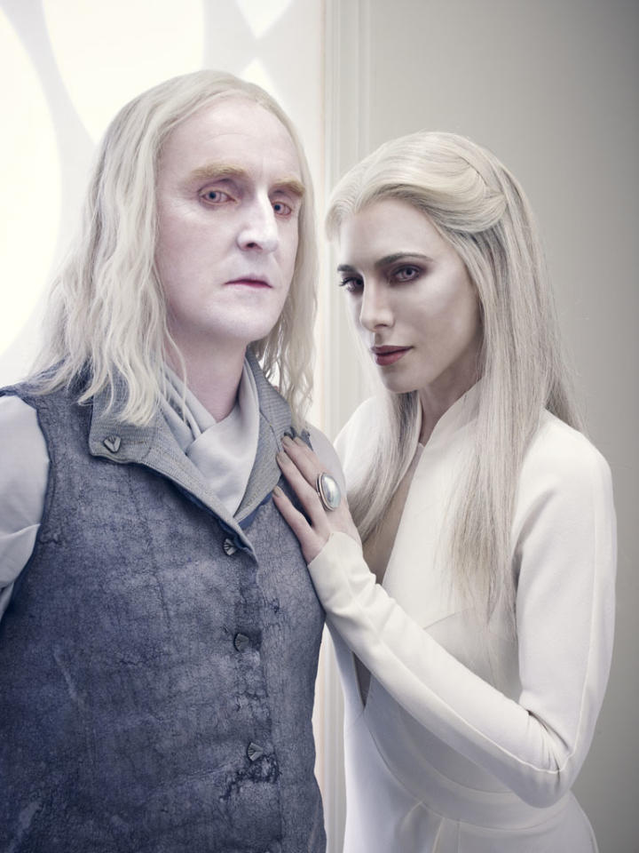"Tony Curran as Datak Tarr and Jaime Murray as Stahma Tarr on Syfy's ""Defiance."""
