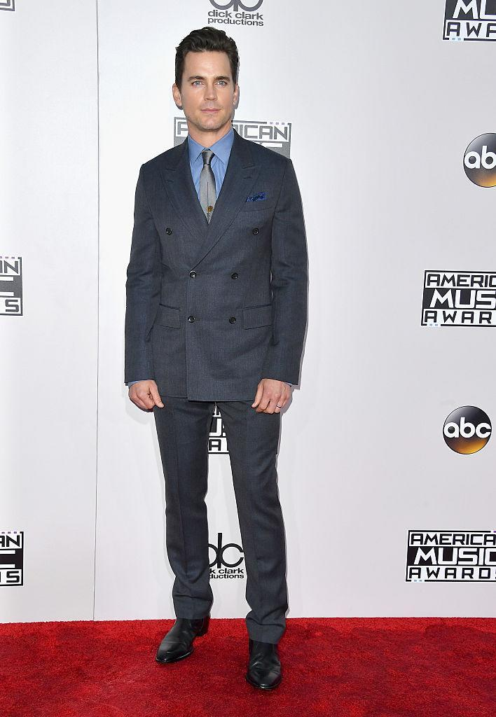 <p>Matt Bomer kept things classy in a conservative suit. <em>(Photo: Getty Images)</em> </p>