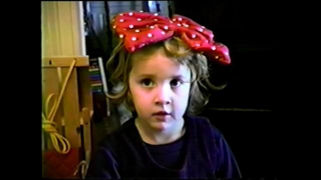 "A young Dylan Farrow captured on camcorder in HBO's investigative docuseries ""Allen v. Farrow."""