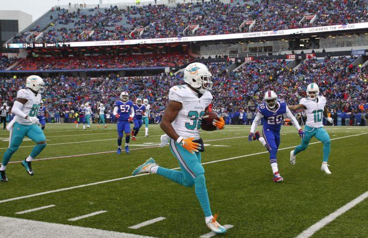 The Dolphins won their 10th game, beating the Bills in overtime. (AP)