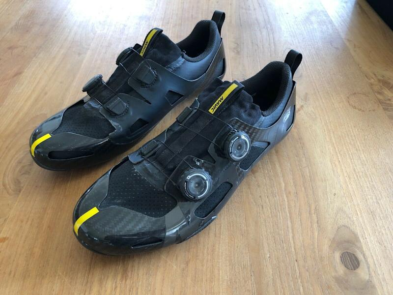 A pair of Mavic Comete Ultimate cycling shoes on eBay