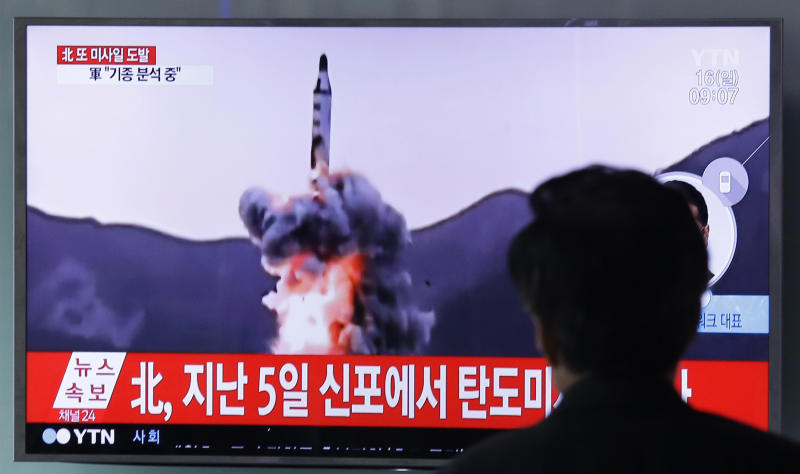 North Korean medium-range missile test fails, US says