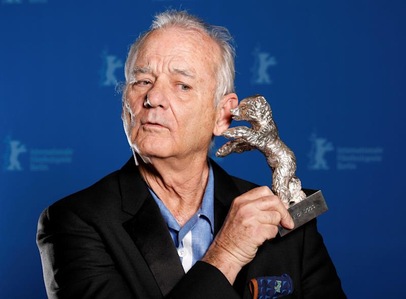 Actor Bill Murray holds the Silver Bear for Best Director award on behalf of Wes Anderson for movie Isle of Dogs during the awards ceremony at the 68th Berlinale International Film Festival in Berlin, Germany, February 24, 2018. REUTERS/Axel Schmidt TPX IMAGES OF THE DAY (Photo: Axel Schmidt / Reuters)